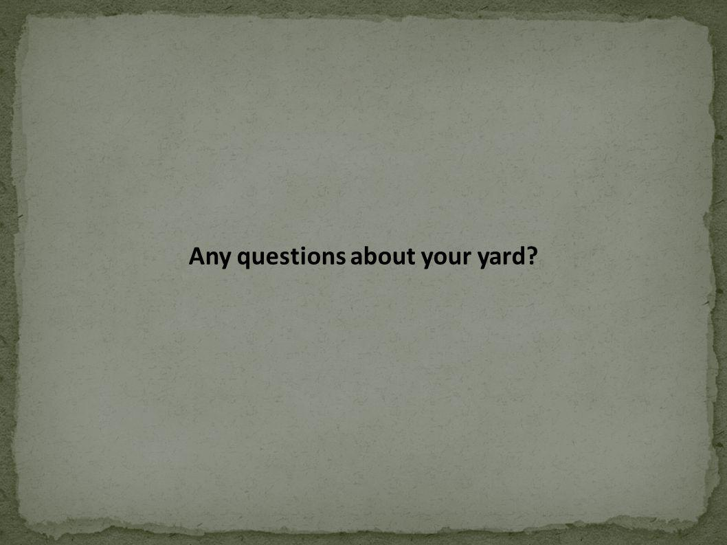 Any questions about your yard?