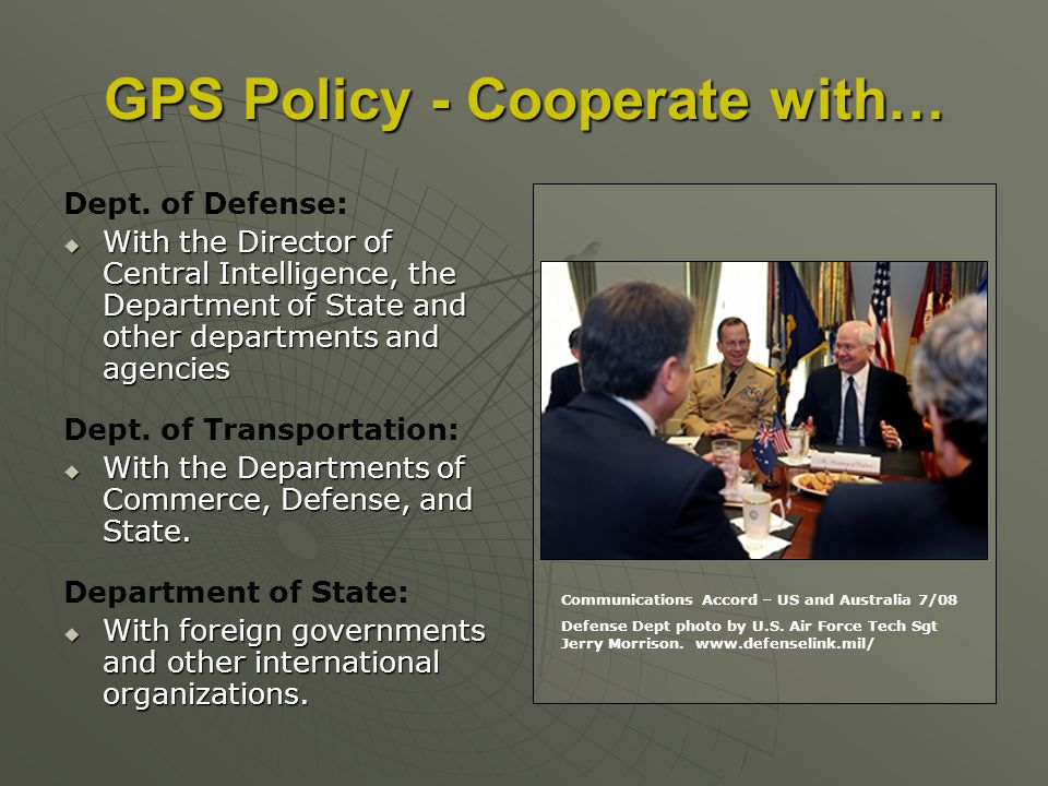 GPS Policy - Cooperate with… Dept.