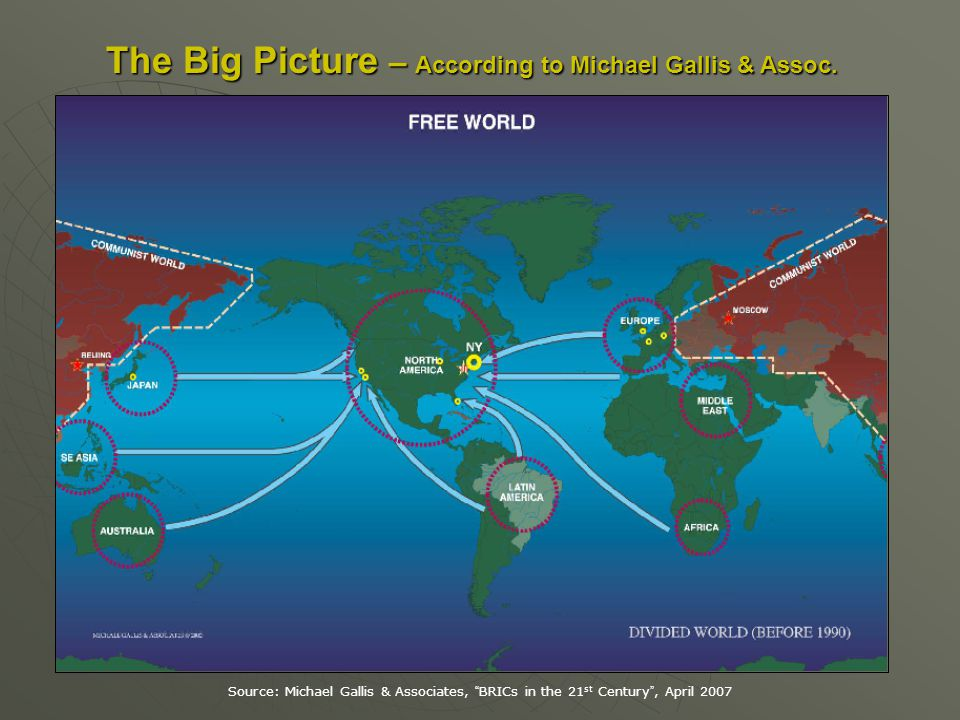 The Big Picture – According to Michael Gallis & Assoc.