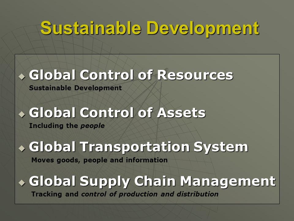 Sustainable Development Sustainable Development Global Control of Resources Global Control of Resources Sustainable Development Global Control of Asse