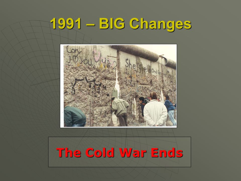 1991 – BIG Changes The Cold War Ends