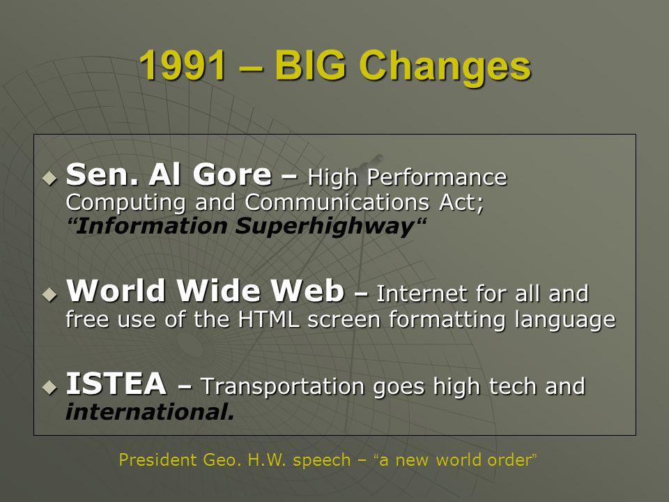Sen. Al Gore – High Performance Computing and Communications Act; Sen. Al Gore – High Performance Computing and Communications Act;Information Superhi