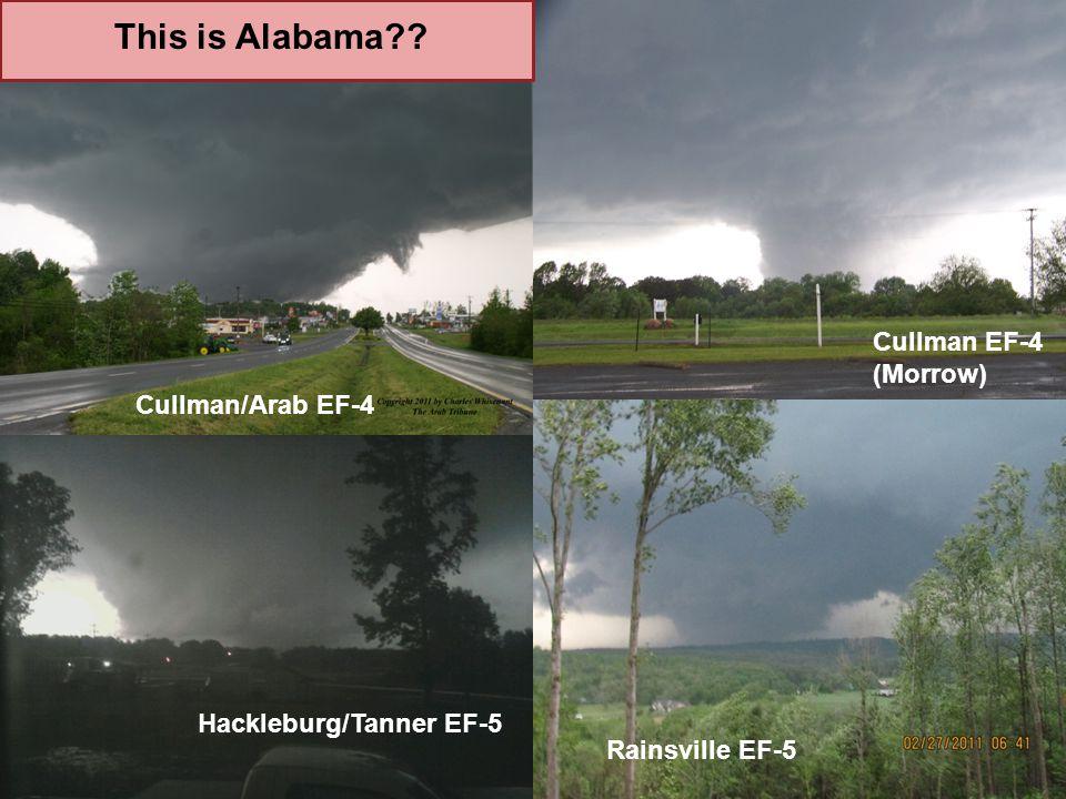This is Alabama?? Cullman EF-4 (Morrow) Rainsville EF-5 Hackleburg/Tanner EF-5 Cullman/Arab EF-4
