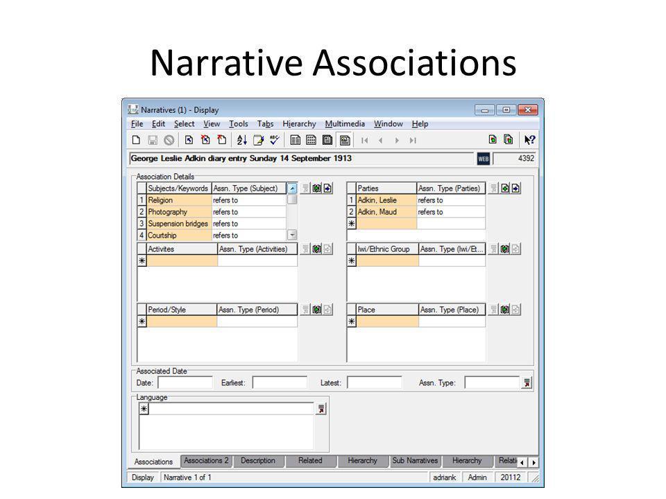 Narrative Associations