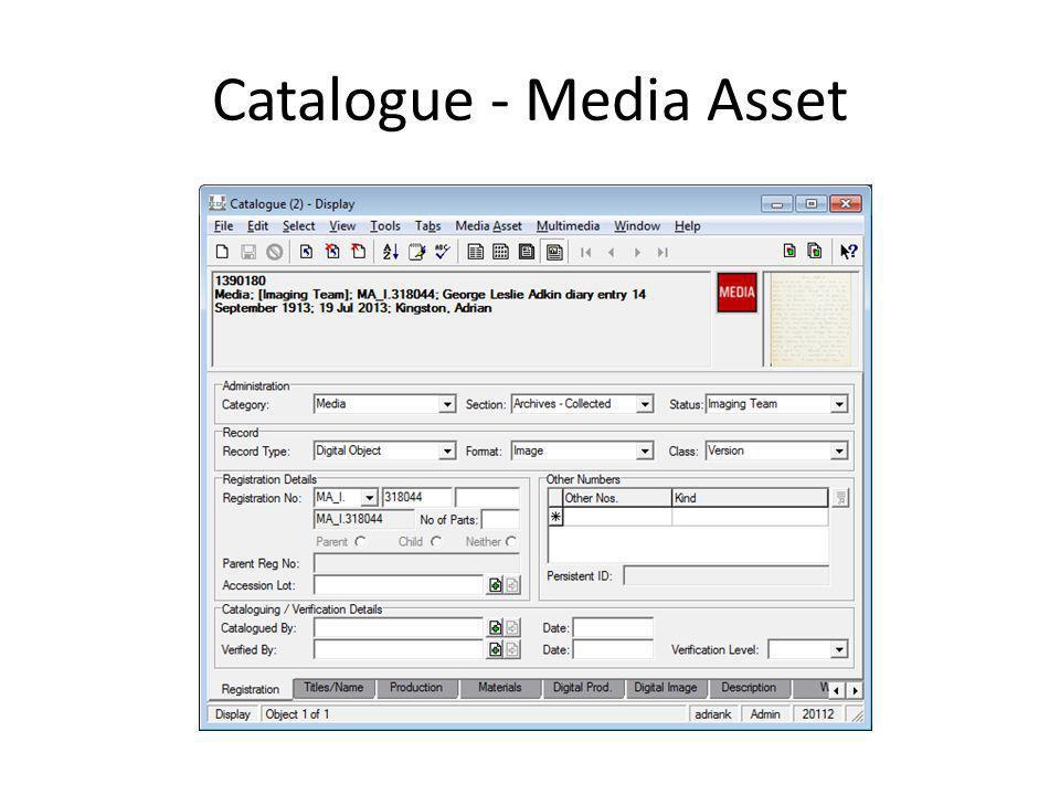 Catalogue - Media Asset