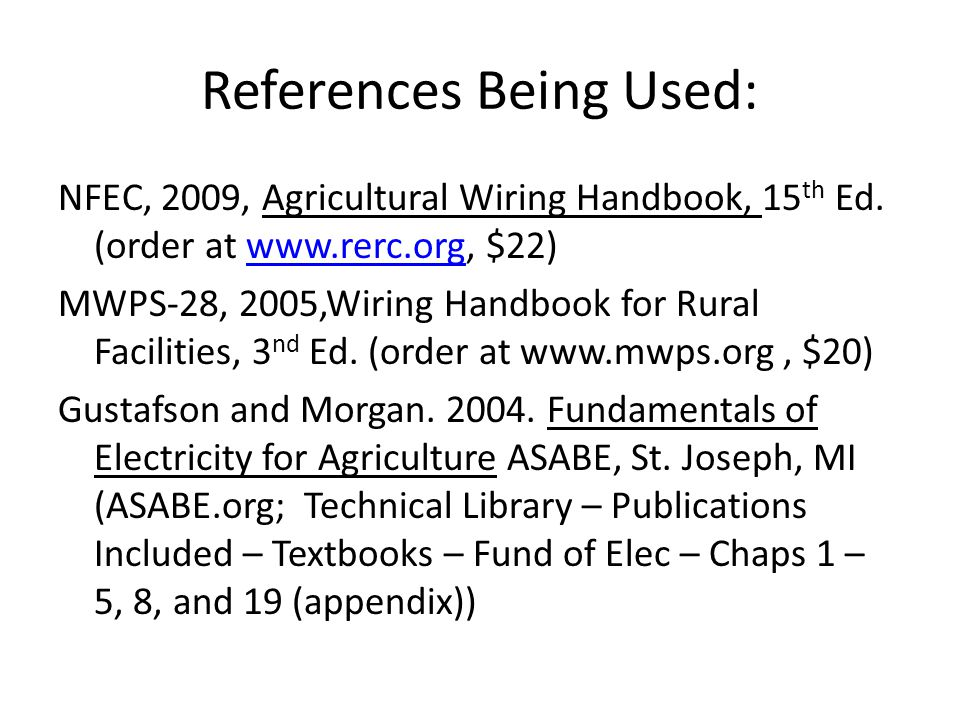 Example for Main Disconnect Ampacity Load Demand Residence 150 A x 100% = 150 A Largest load - Barn 130 A x 100% = 130 2nd largest - P.