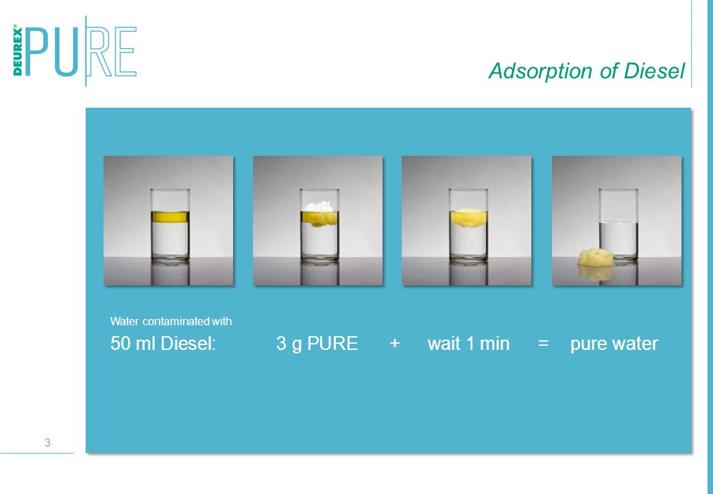 4 Properties High rate of adsorption, adsorbs up to 10 times of its own weight Fast rate of adsorption, the contamination is adsorbed within a few minutes Great surface area, up to 3 m²/g Electrical non-conductor Inert, no chemical reaction with other products