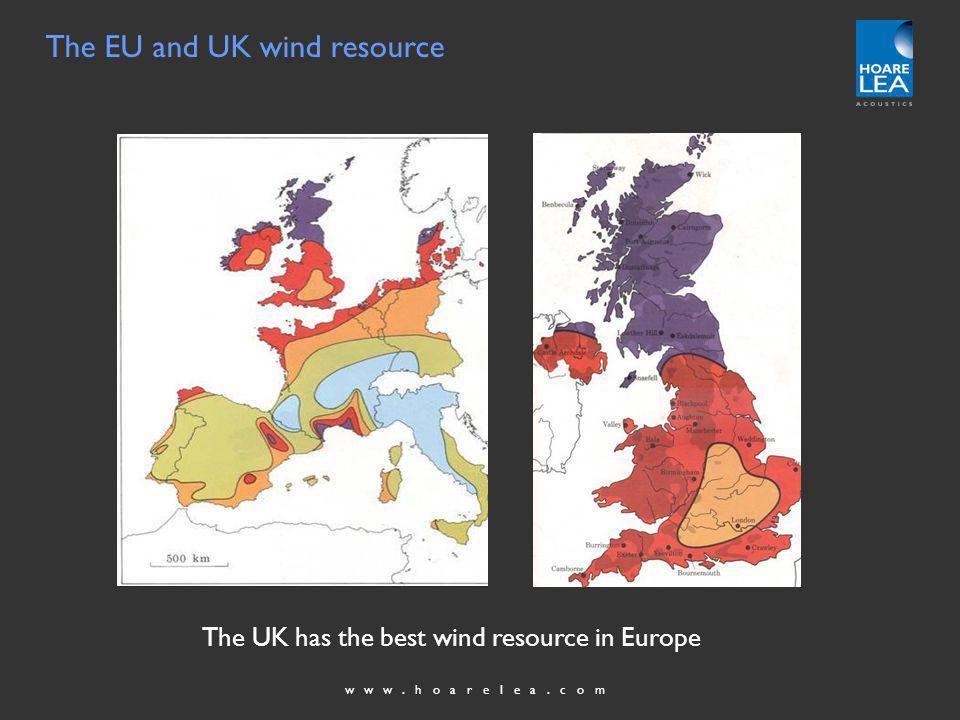 www.hoarelea.com The EU and UK wind resource The UK has the best wind resource in Europe