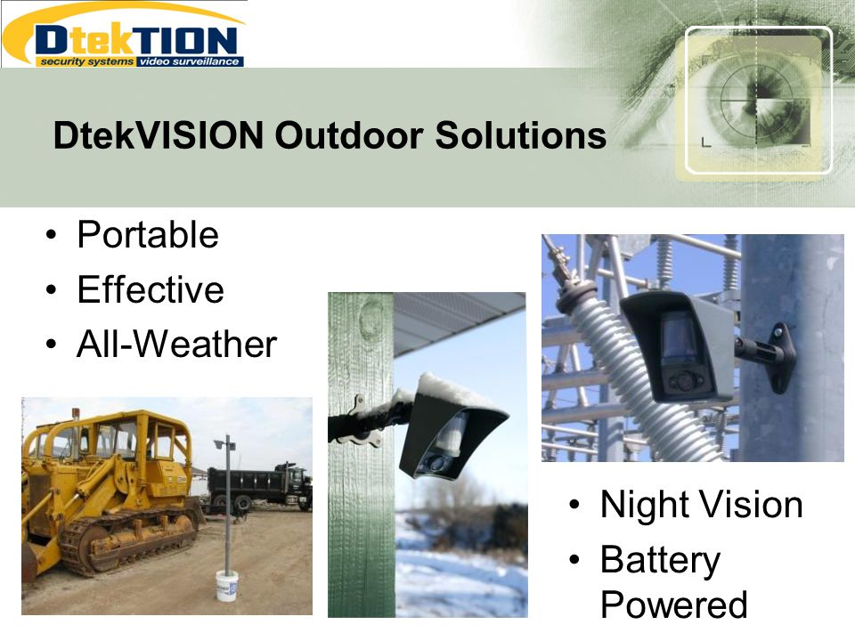 DtekVISION Outdoor Solutions Portable Effective All-Weather Night Vision Battery Powered