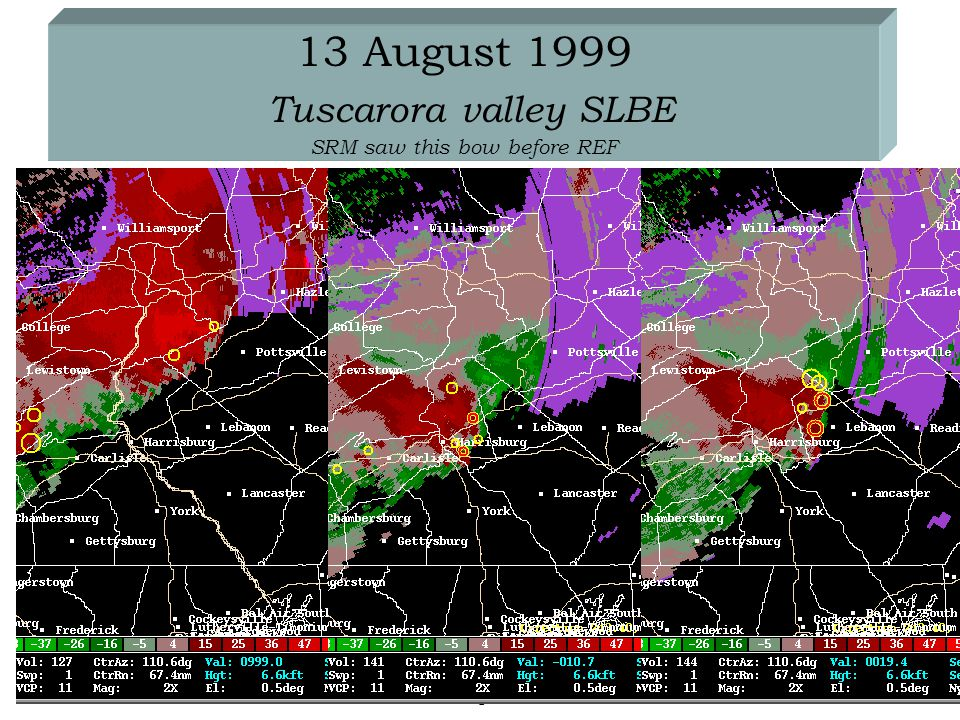 5 March 2003National Weather Service State College PA 13 August 1999 Tuscarora valley SLBE SRM saw this bow before REF