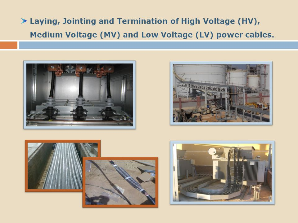 Installation and Termination for Instruments, Control and Fiber Optics Cables.
