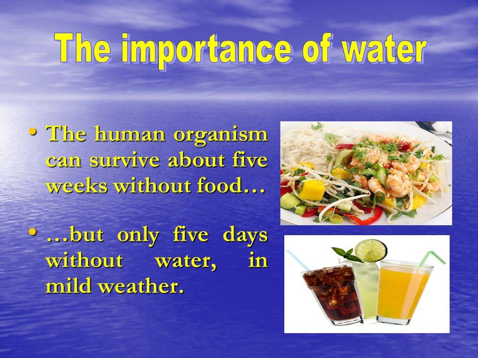 Every human needs water.