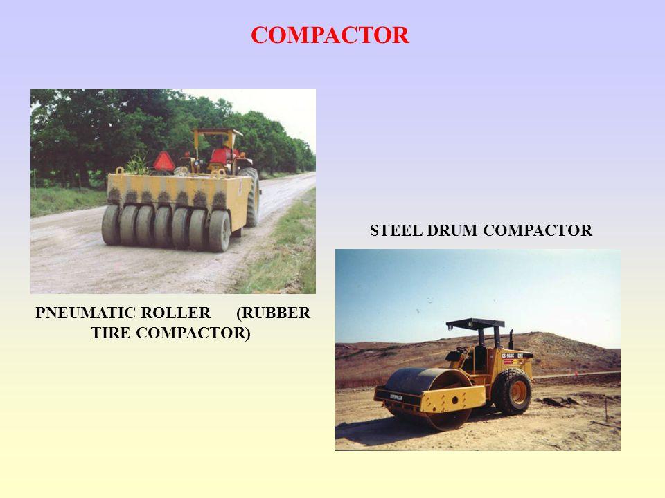STEEL DRUM COMPACTOR PNEUMATIC ROLLER (RUBBER TIRE COMPACTOR) COMPACTOR