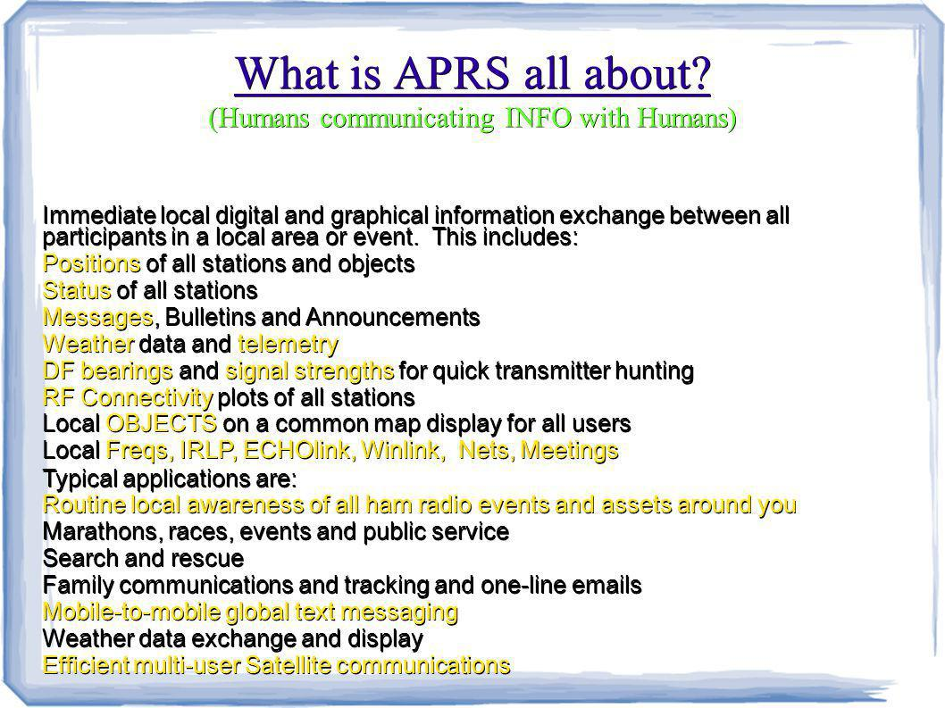 What is APRS all about.