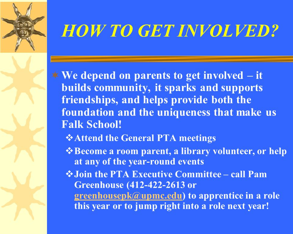 HOW TO GET INVOLVED.