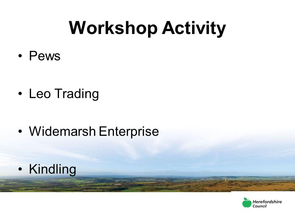 Workshop Activity Pews Leo Trading Widemarsh Enterprise Kindling