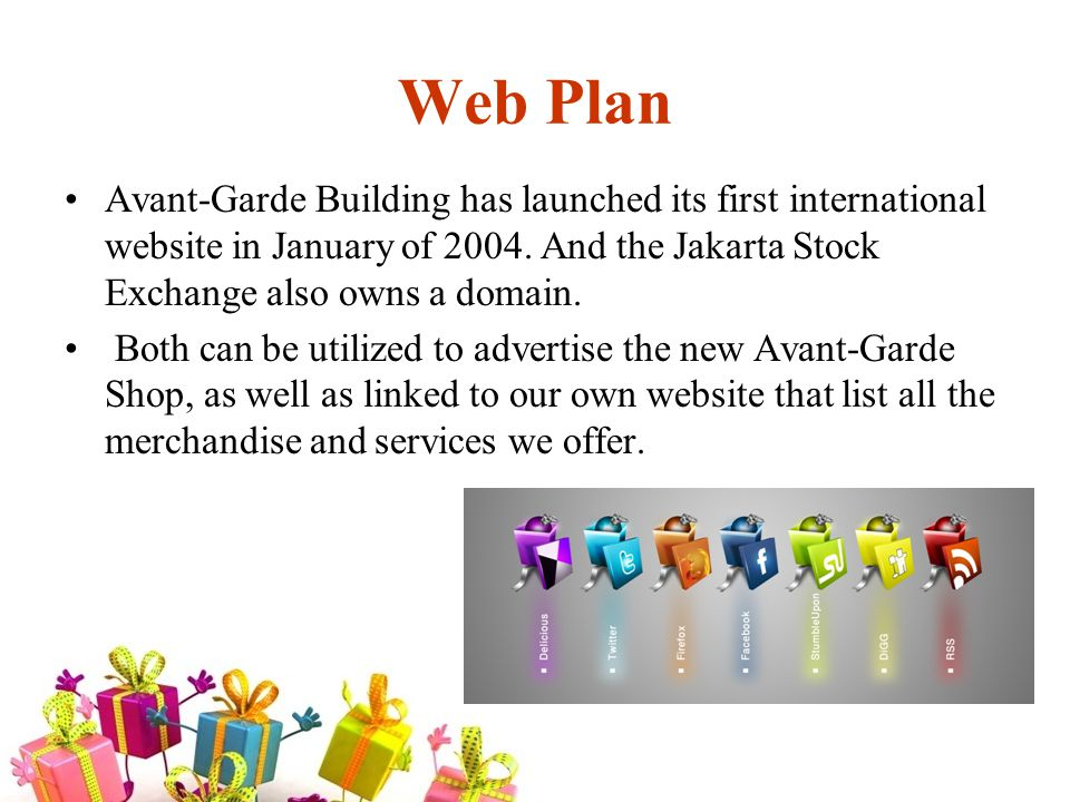 Web Plan Avant-Garde Building has launched its first international website in January of 2004.