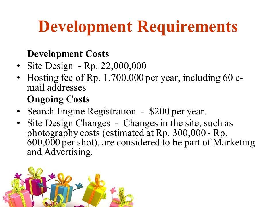 Development Requirements Development Costs Site Design - Rp.