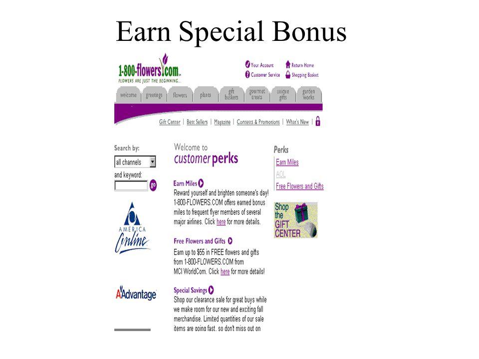 Earn Special Bonus