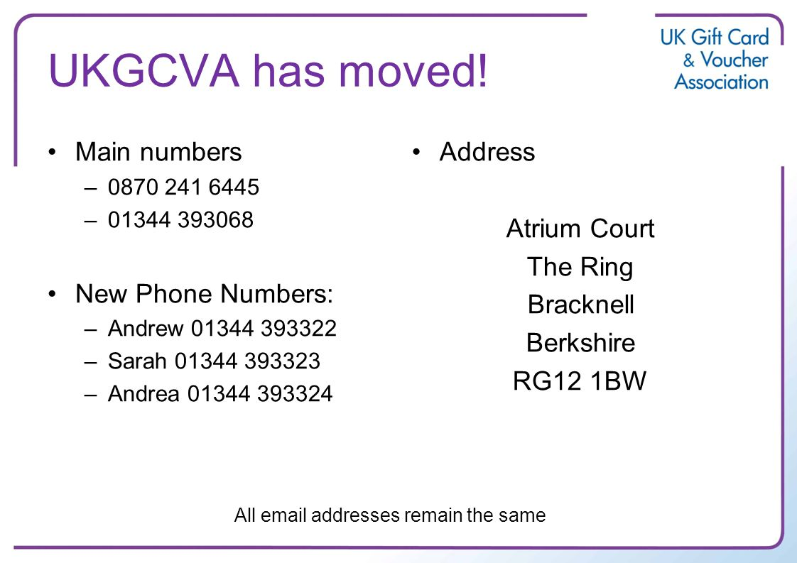 UKGCVA has moved.
