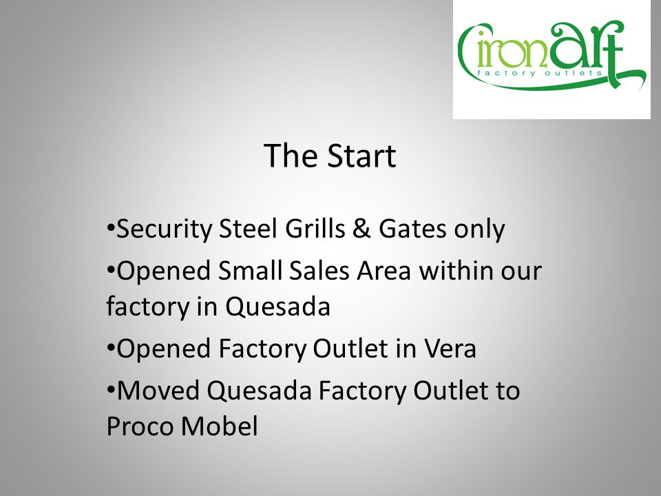 Next Phase Wanted to create our vision of a Home & Garden Factory Outlet to include: Furniture Garden Centre Gift Shop Tea Room