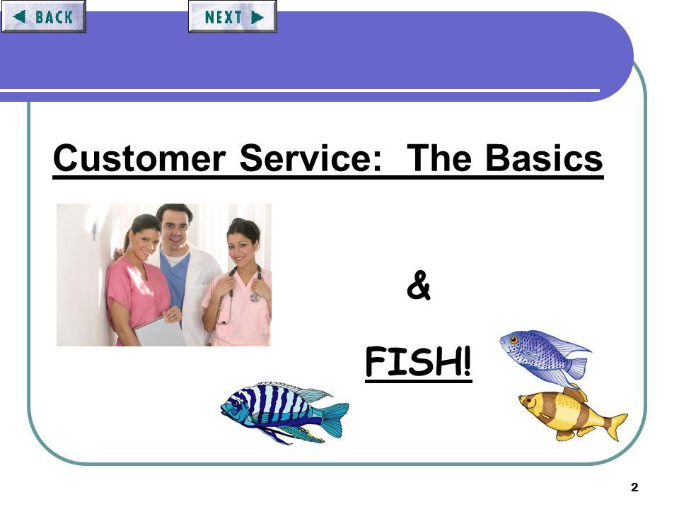 2 Customer Service: The Basics & FISH!