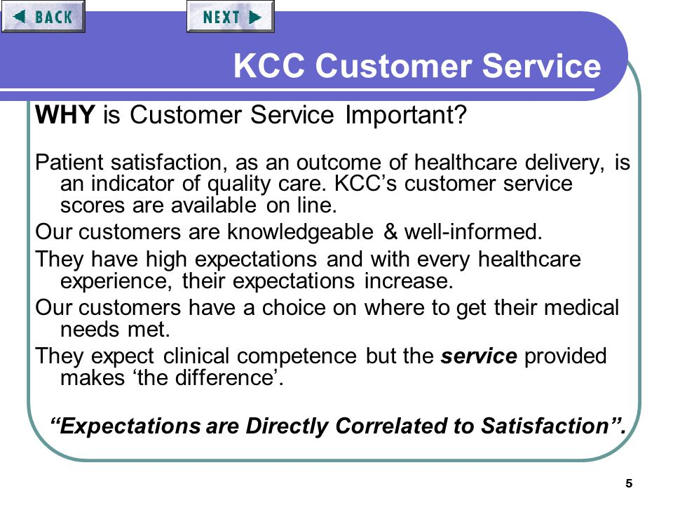 26 KCC Customer Service Our Goals: To Exceed our Customers Expectations.