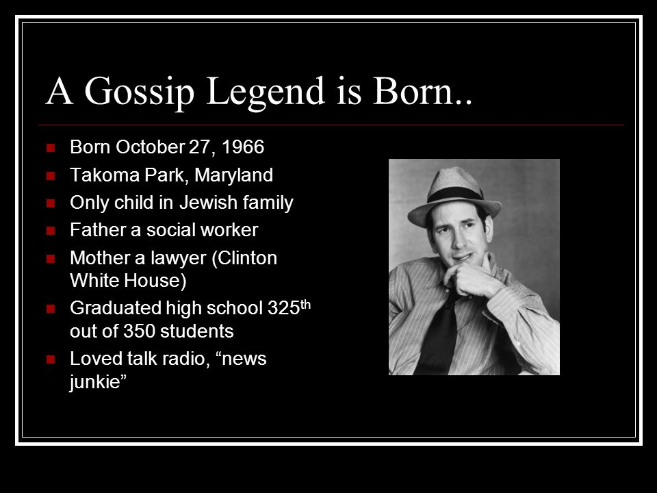 A Gossip Legend is Born..
