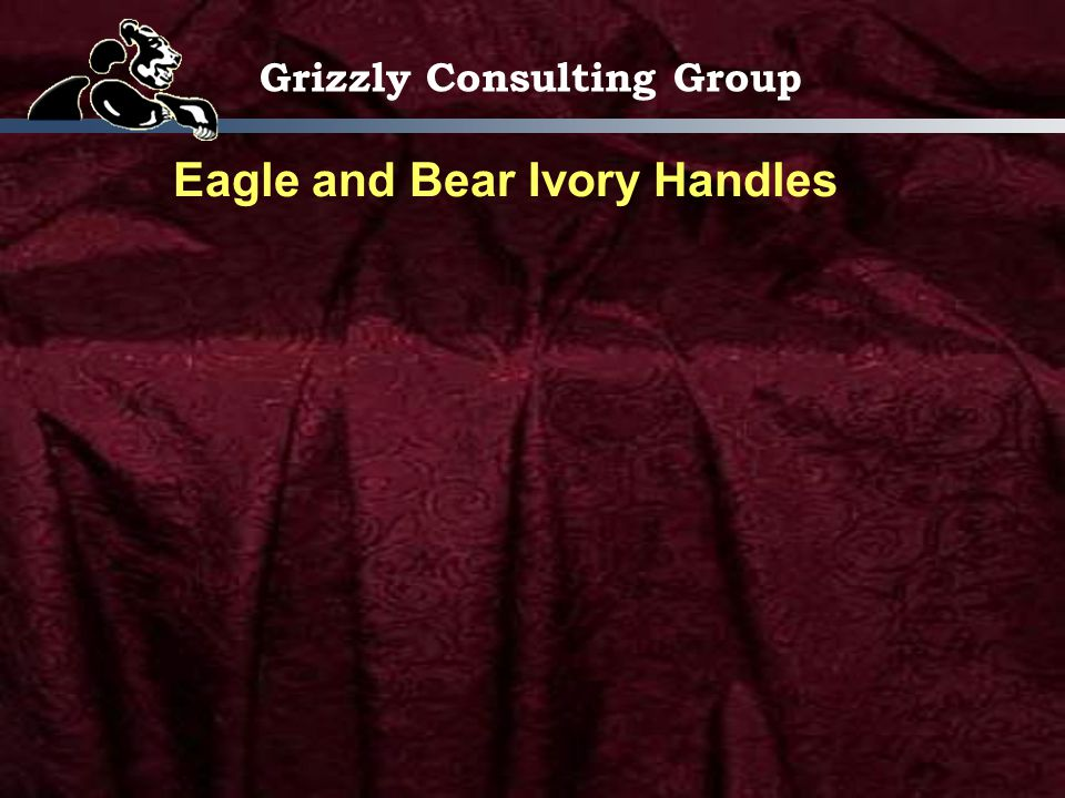 Grizzly Consulting Group Eagle and Bear Ivory Handles