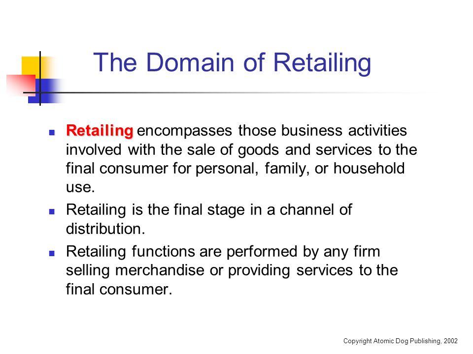 Copyright Atomic Dog Publishing, 2002 The Impact of Retailing on the Economy Annual U.S.