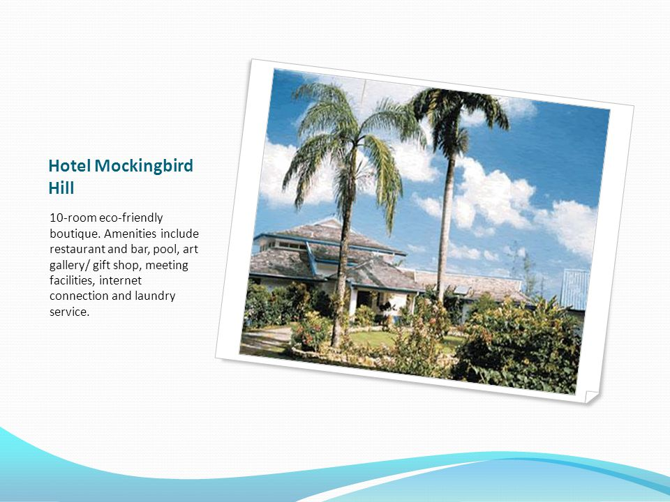 Hotel Mockingbird Hill 10-room eco-friendly boutique.