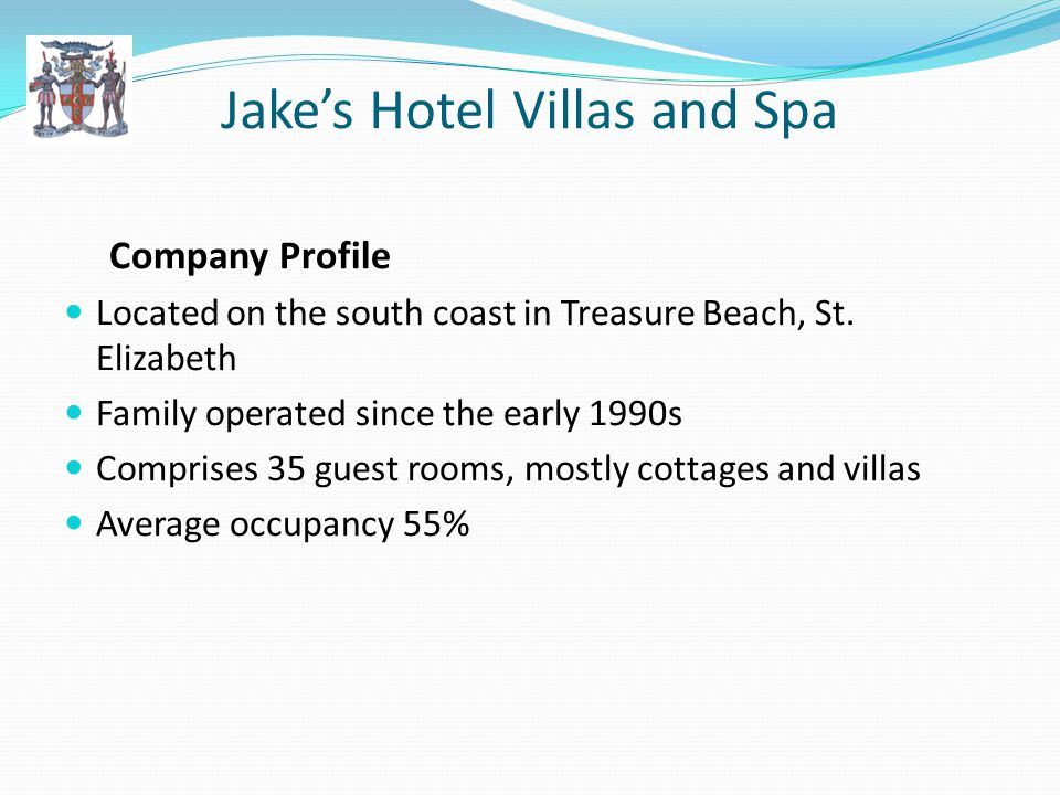 Jakes Hotel Villas and Spa Company Profile Located on the south coast in Treasure Beach, St.