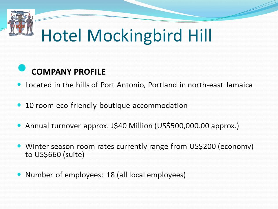 Hotel Mockingbird Hill Promoting Guiltless Indulgence CSR activities: Environmentally friendly practices, Biodiversity conservation, Resource management and Support for the rural community: Employs locals and uses organic locally-sourced Supports community employment and educational projects.