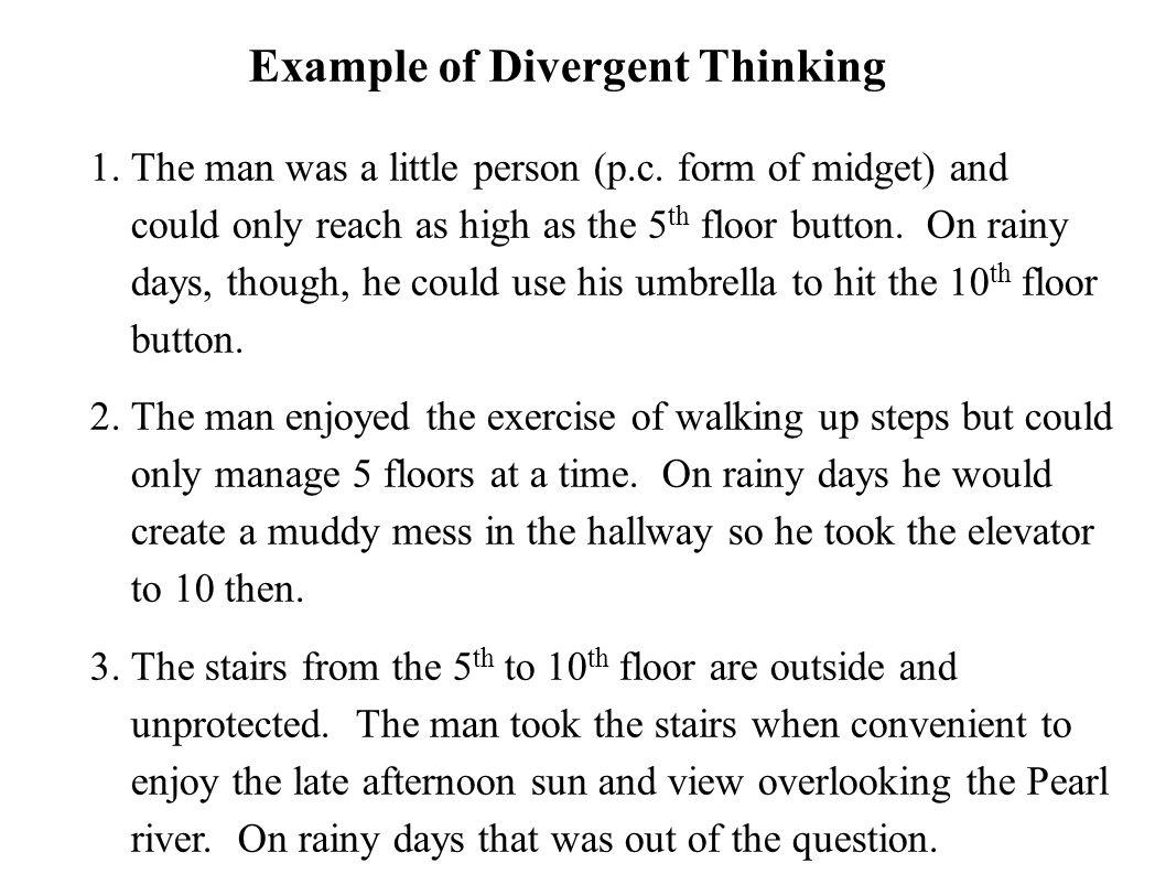 1. The man was a little person (p.c. form of midget) and could only reach as high as the 5 th floor button. On rainy days, though, he could use his um
