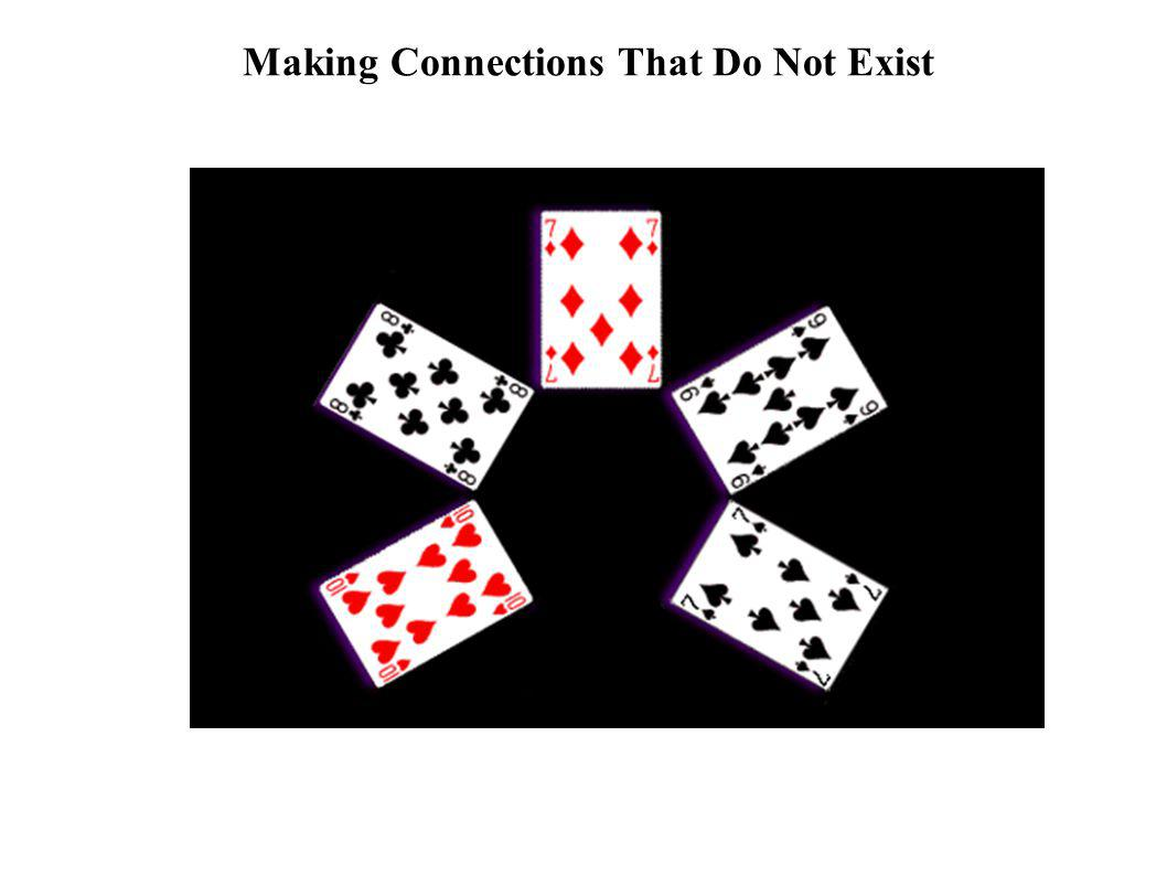 Making Connections That Do Not Exist