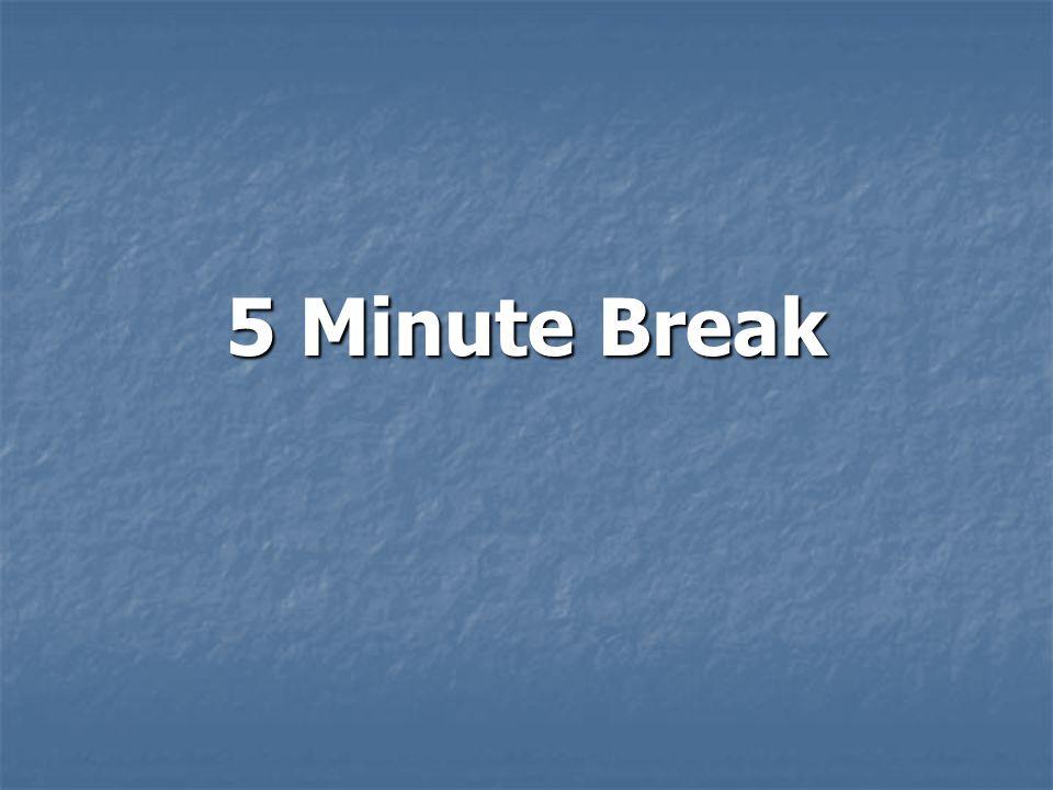 5 Minute Break