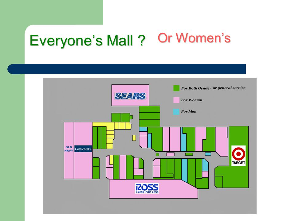 Everyones Mall ? Or Womens