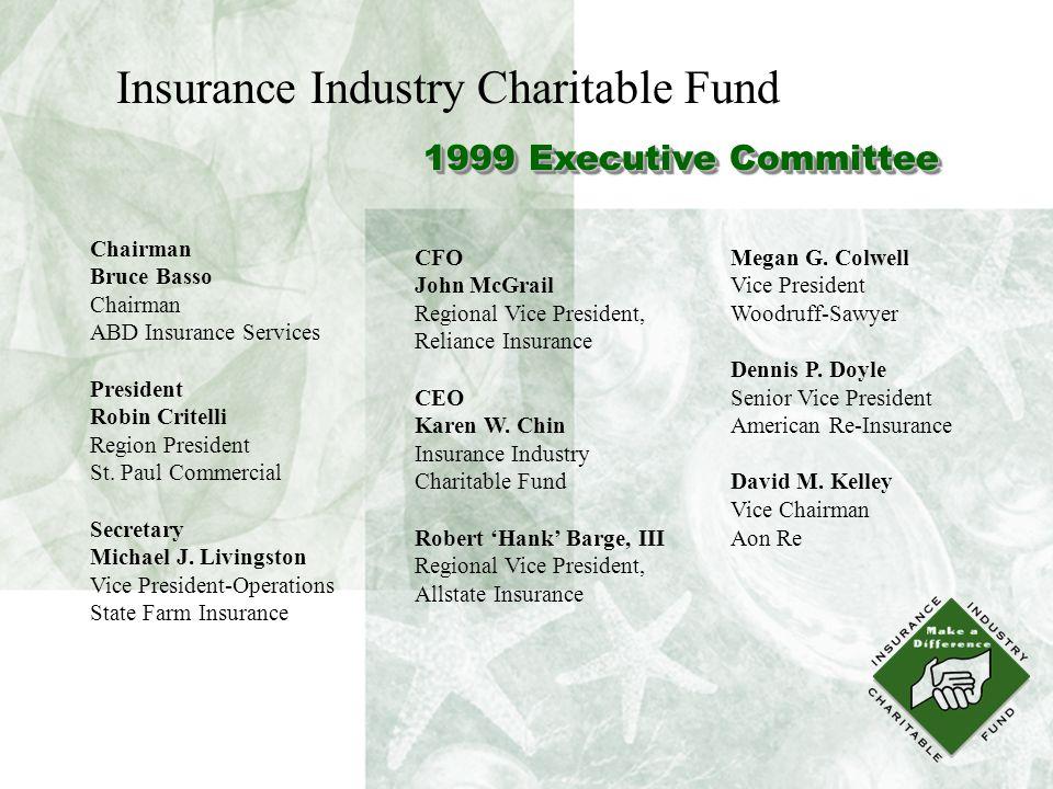 1999 Executive Committee Chairman Bruce Basso Chairman ABD Insurance Services President Robin Critelli Region President St.