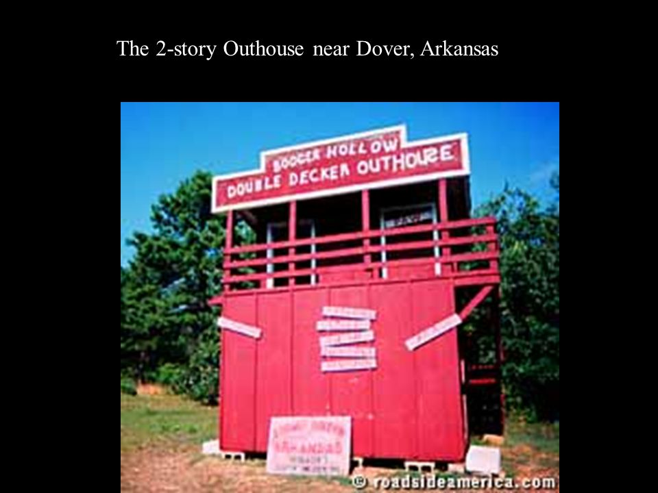 The 2-story Outhouse near Dover, Arkansas