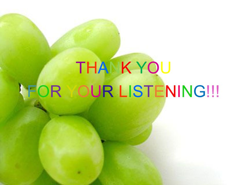THANK YOU FOR YOUR LISTENING!!!