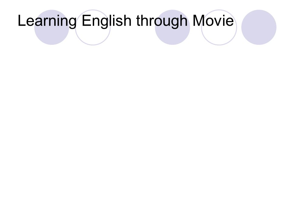 Learning English through Movie
