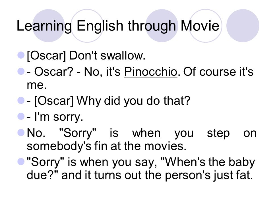 Learning English through Movie [Oscar] Don t swallow.