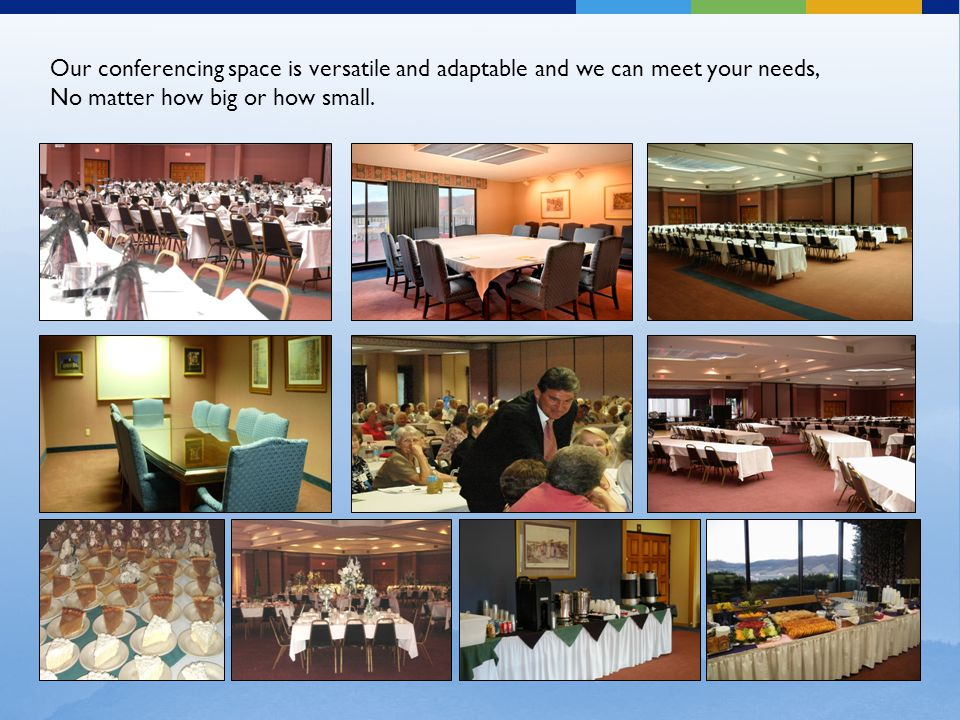 Our conferencing space is versatile and adaptable and we can meet your needs, No matter how big or how small.