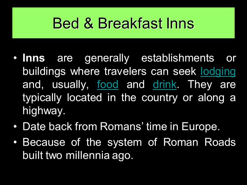Bed & Breakfast Inns New York South Carolina