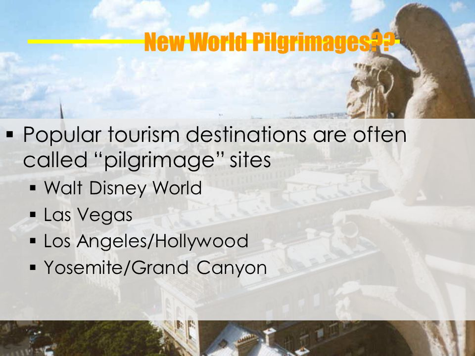 New World Pilgrimages .