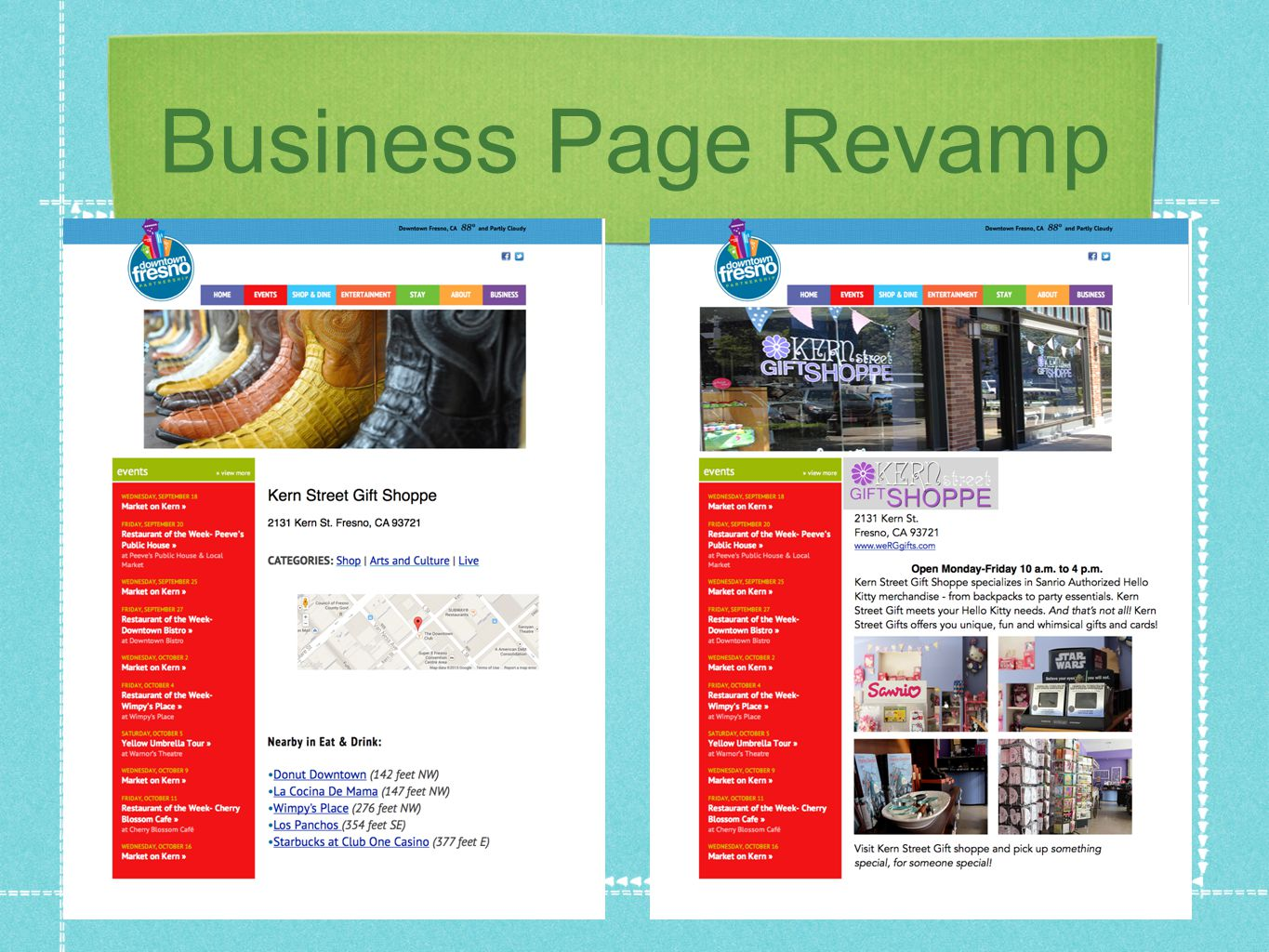 Business Page Revamp