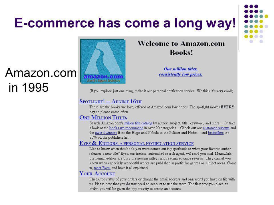 E-commerce has come a long way! Amazon.com in 1995