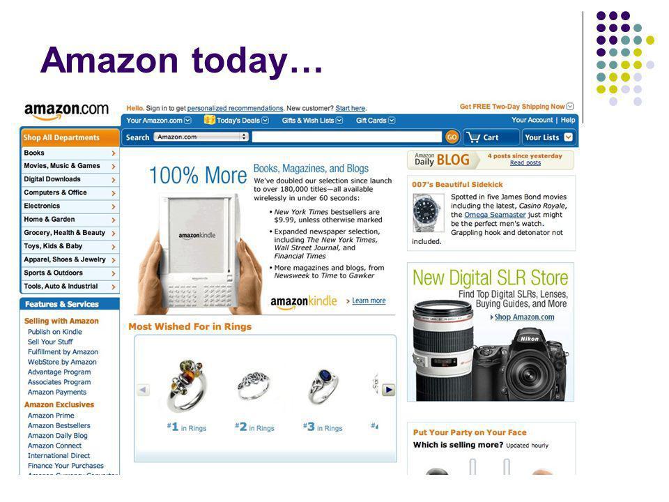 Amazon today…