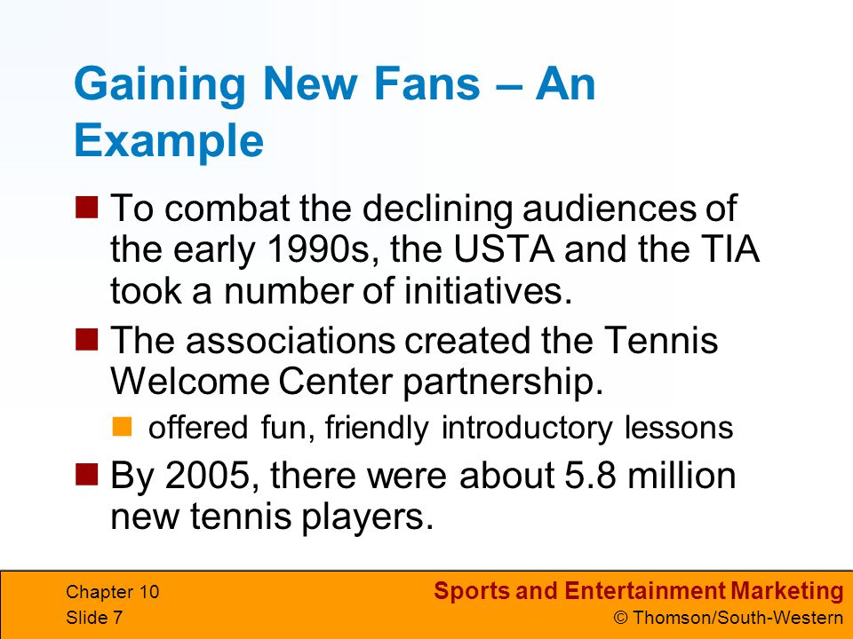 Sports and Entertainment Marketing © Thomson/South-Western Chapter 10 Slide 28 Interactive Advertising Effective advertising will engage viewers and motivate them to take specific action.