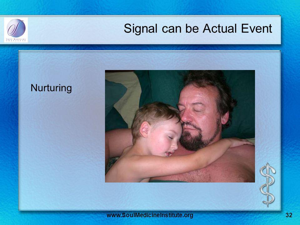 www.SoulMedicineInstitute.org32 Signal can be Actual Event Nurturing